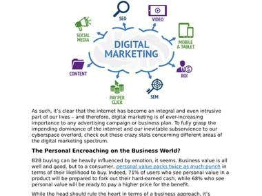 Digital marketing article example