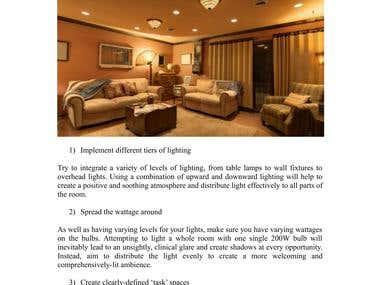 Interior design article example