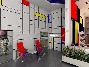 Educational center interior design