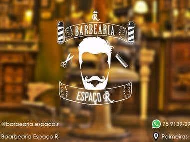 Logo Barbearia Espaço R