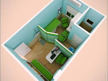 Pediatric Clinic(Sketchup 3Ds max Vray)