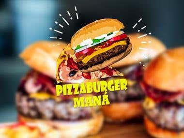 Logo Pizza-Burger Maná