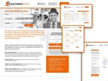 BaufirmenScout // Logo Design, Web Design