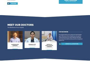Created a Wordpress website for the Hospital