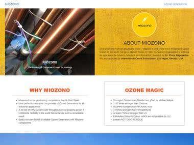 Miozono - Web App