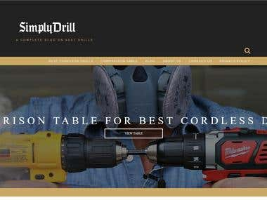 Drill Shop Website Development