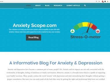 AnxietyScope Developement & Search Engine Optimiation