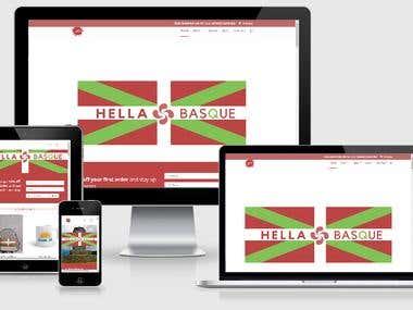 Hella Basque Cultural Wordpress Website