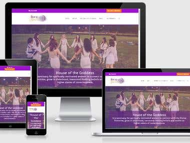 House of the Goddess Community Wordpress Site