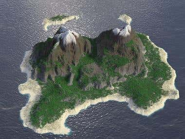 3d Island for Game