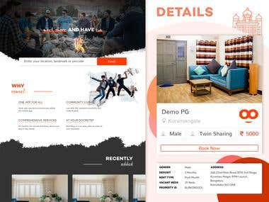 Online PG Aggregator - Room Renting Website & e-Commerce