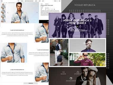 Online eCommerce Store for Clothing Brand Vogue Republica
