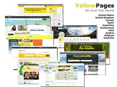 Research and Scrape - Yellow Pages - All Over The World