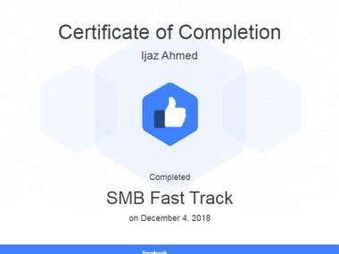 Facebook SMB Fast Track Certificate