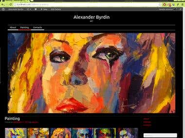 Сайт-визитка художника