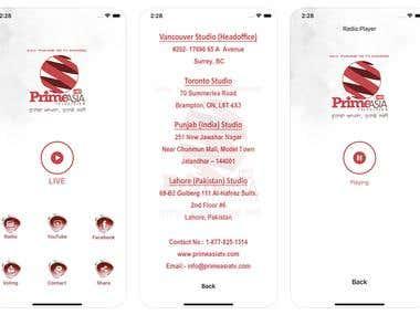 Online Streaming App - iOS