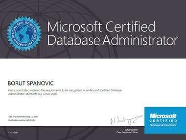 Microsoft SQL Server 2000 Certrifications
