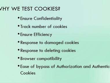 Cookies Testing