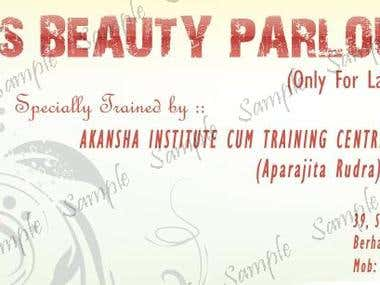 Advertising Banner For Soma's Beauty Parlour