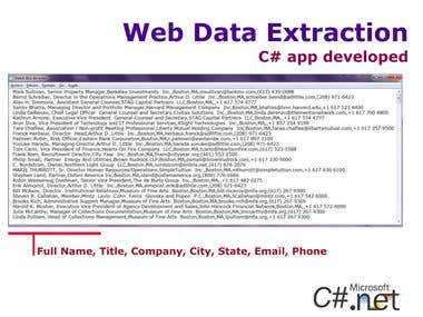 App Develop - Web Data Extraction