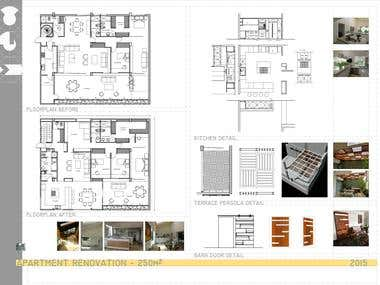 APARTAMENT REMODEL. BEFORE & AFTER FLOORPLAN