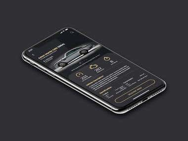 Classic Car Dealer UI Mobile App