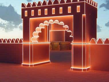 sheikh Zayed Festival event design in lumion