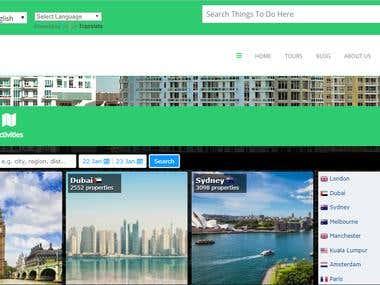 Travel Affiliate website