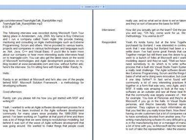 Transcription sample (Technical, IT)