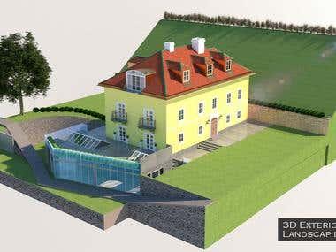 3D Exterior and Landscape designing.