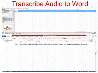 Transcription Task