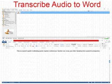 Transcription Task
