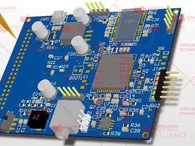 PCB design & Firmware development for Smart Watch Prototype
