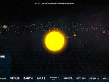 Solar System 3D App