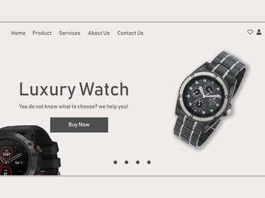 Watch Shop UI