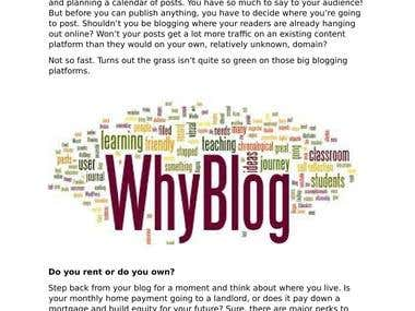 Why you should keep your blog in your domain
