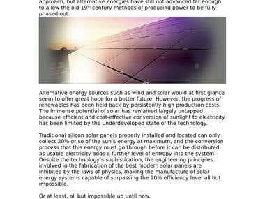 The Nano Solar Revolution