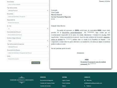Preenchimento de Documentos, contratos, interativamente pdf