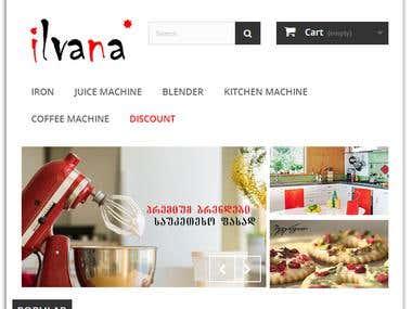 ilvana.online website on Prestashop