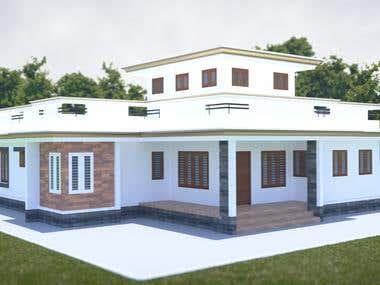 Kerala house exterior