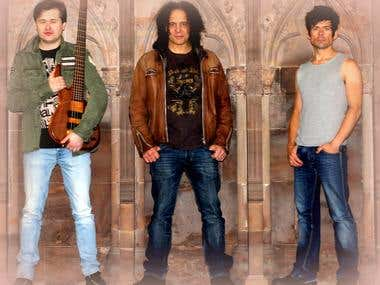 A band photoshoot in Lichfield Cathedral
