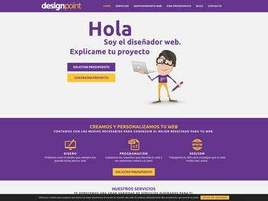 Diseño web corporativo sobre wordpress