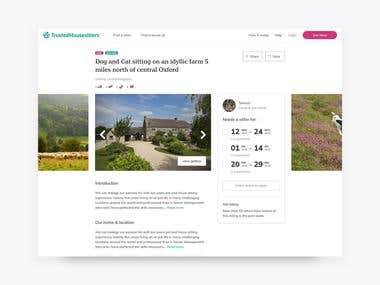 Redesigning TrustedHousesitters
