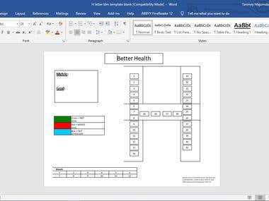 Company monthly progress report creation