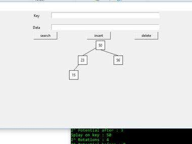Splay Tree using TKinter