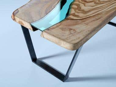 Live edge / River table