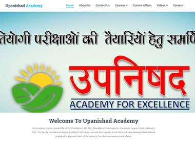 Website for educational institute