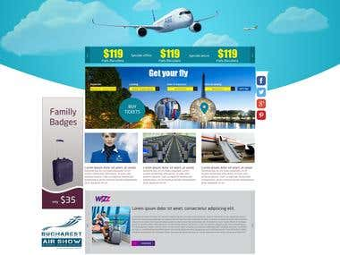 Airplane ticket portal