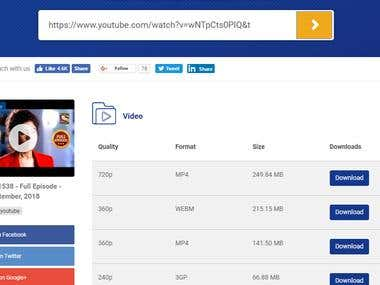 Youtube Downloader Website