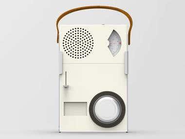 Portable Transistor Radio and Phonograph
